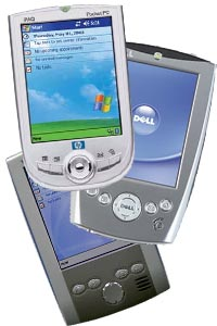 Various Windows powered devices supported by BrickShooter for Pocket PC