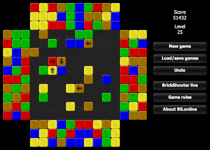 BrickShooter Online screenshot