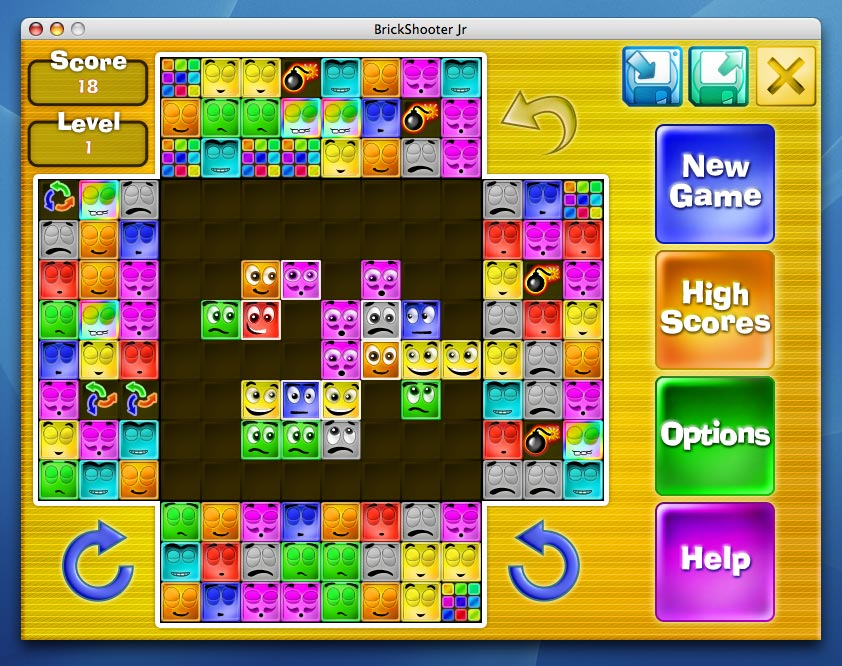 Screenshot of BrickShooter Jr. for Mac
